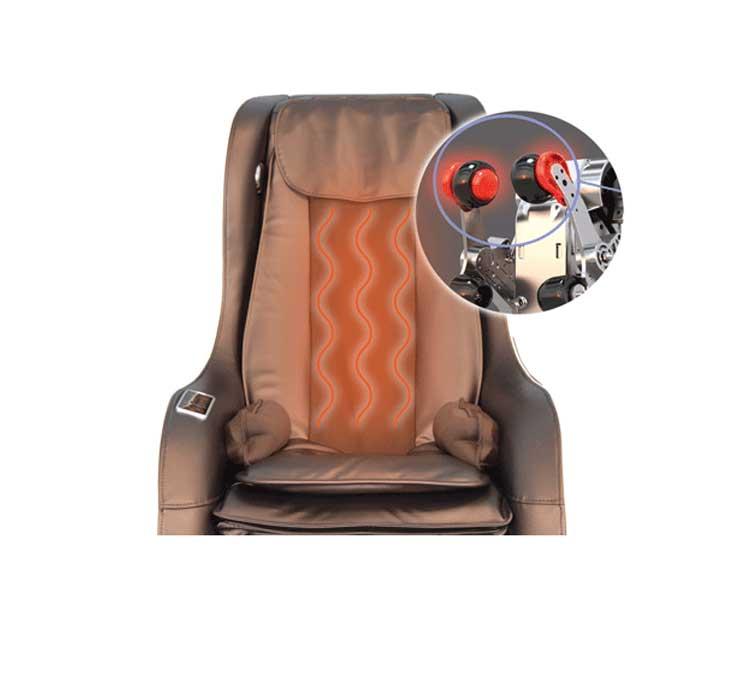 Heated massage function