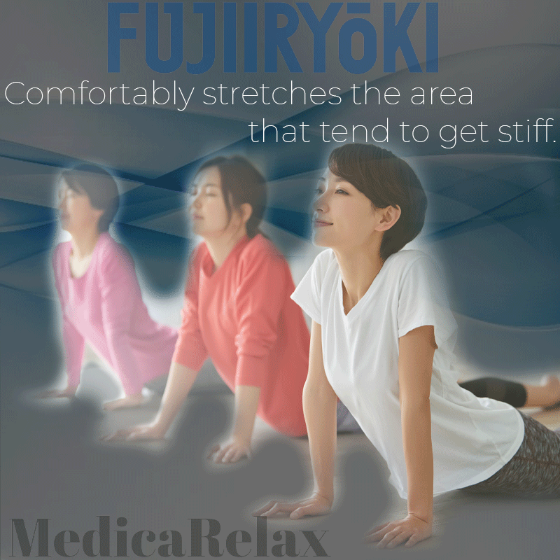 Comfortably stretches the area that tend to get stiff.