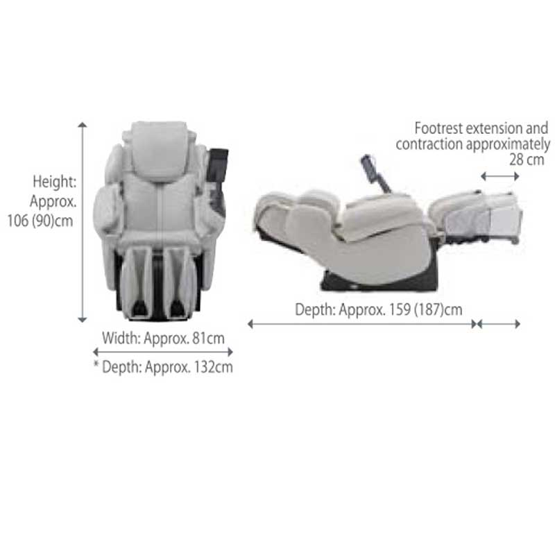 Lupinus Light massage chair specifications