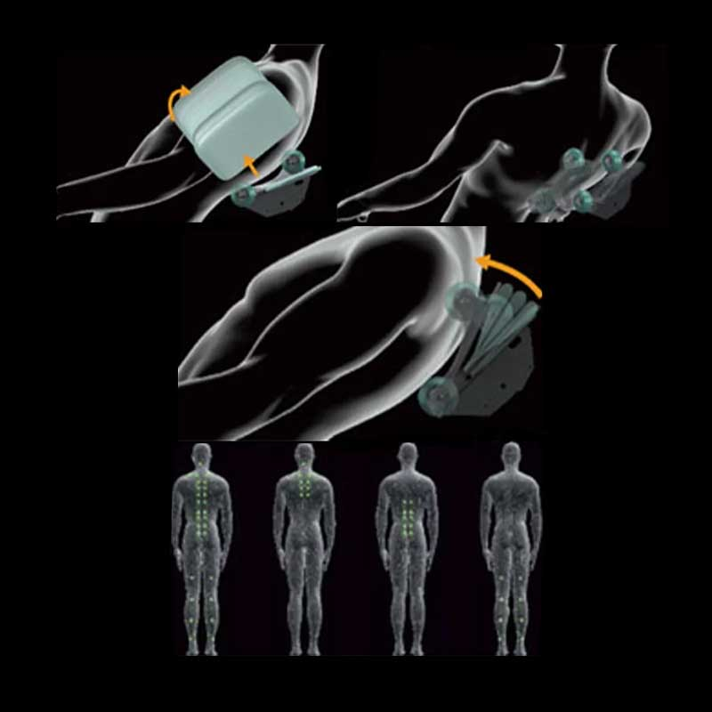 The 3D deep massage robot